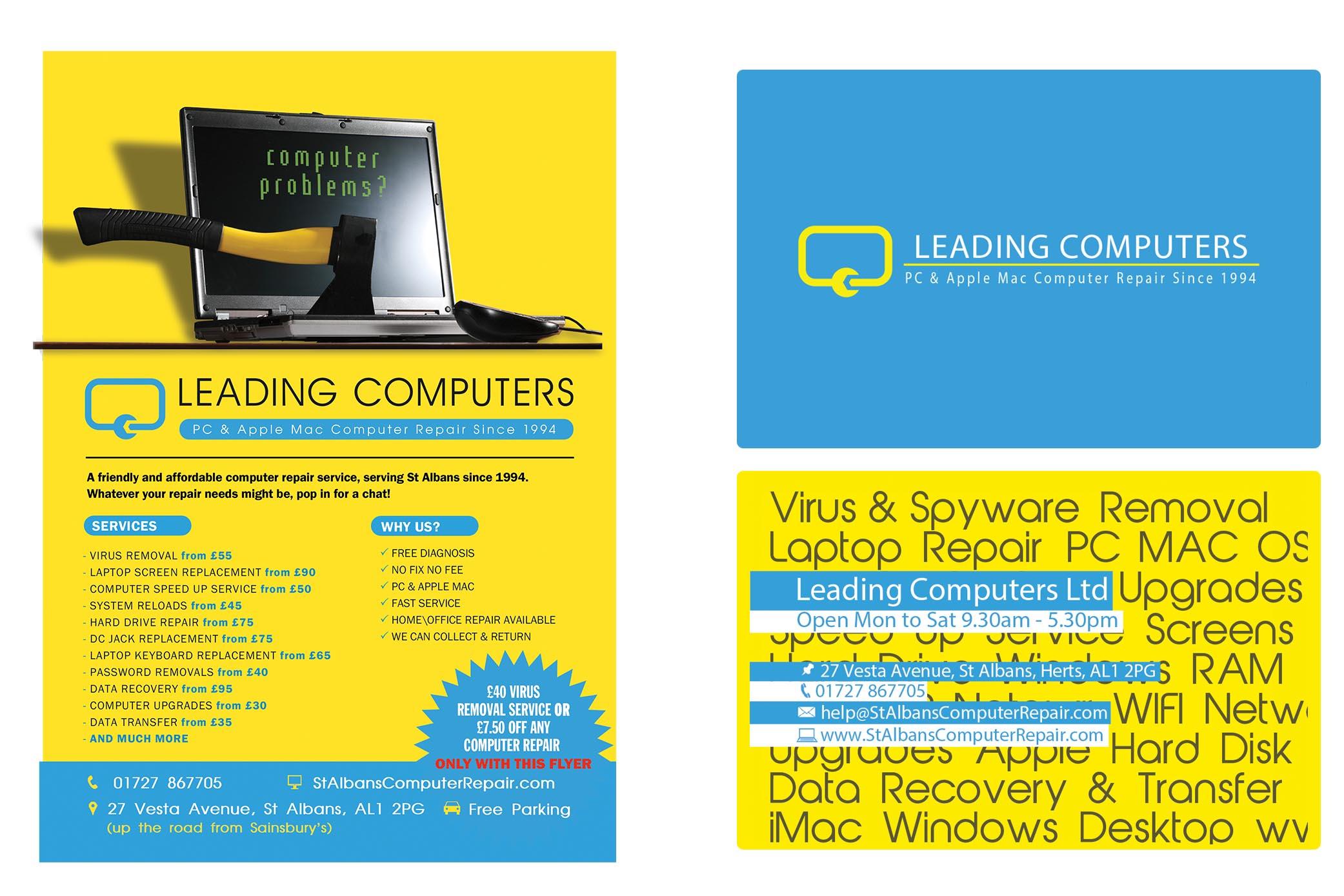 leadingcomputers-leafletwithbusinesscardsHD